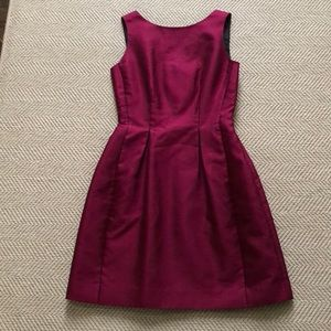 Kate Spade Garnet Red Silk Shantung Mini Dress 4